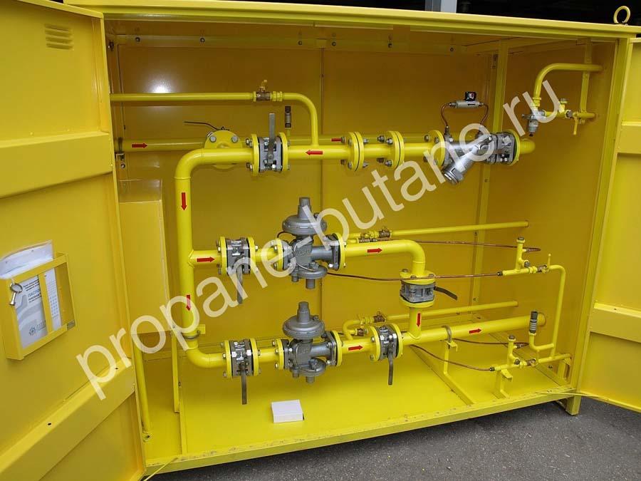 шкафная газорегуляторная установка блочная
